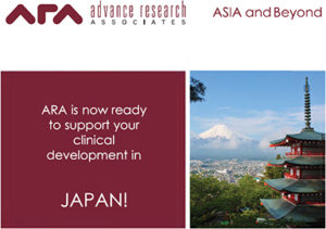 ARA is now ready to support your clinical development in JAPAN! CLICK HERE for details